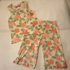 Vintage Gymboree 2004 tank/Capri casual set
